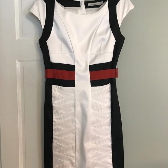 fccaa71b Karen Millen Dresses & Skirts - Karen Millen - Red Black & White Color Block  Dress